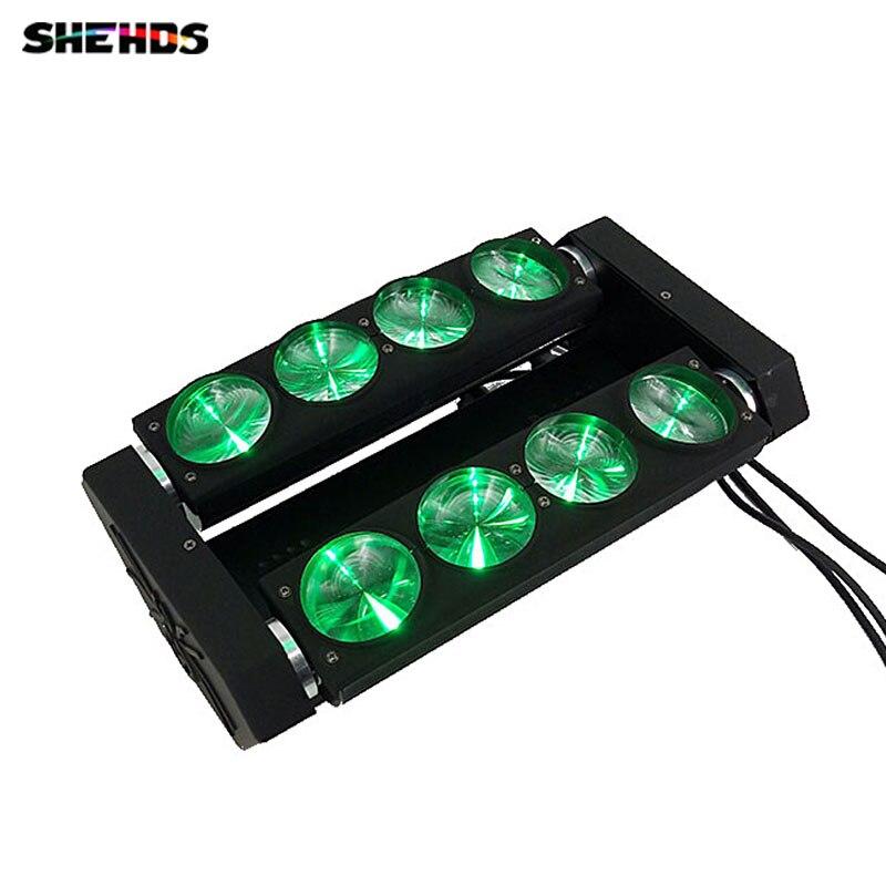 LED Spider Beam Light LED 8x10w RGBW 4in1 Bar Beam Moving Head Beam Lighting DMX 512 SHEHDS стоимость