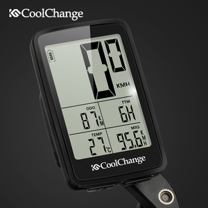 Image 5 - CoolChange Bicycle Computer Rainproof Wired and Wireless Cycling Computer Speedometer Odometer USB Rechargable MTB Bike Computer