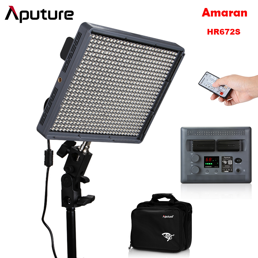 Aputure Amaran HR672S alto CRI95 + 672 piezas LED fotografía proyector Video punto luz + 2,4G Control remoto inalámbrico-in Kit de iluminación fotográfica from Productos electrónicos    1