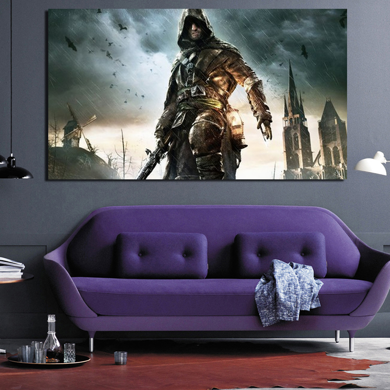 Assassins Creed Unity Dead Kings Wall Art Canvas Painting Poster Prints Modern Painting Wall Pictures For Living Room Home Decor image