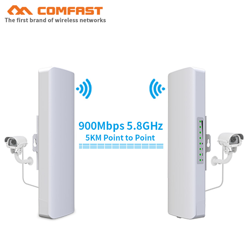 Comfast 3-5KM 5.8G 900Mbps High Power Outdoor Wireless Bridge Wifi CPE Routers Wi Fi Signal Amplifier Booster Extender Repeater