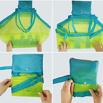SLPF Kids Baby Sand Away Carry Beach Toys Pouch Tote Mesh Large Children Storage Toy Collection Sand Away Beach Mesh Tool N16 4