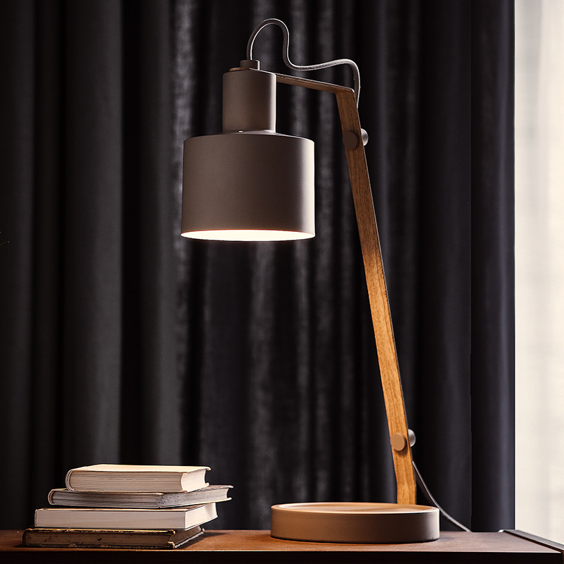 Nordic simplicity personality iron led reading desk lamp office bedroom study desk bedside table lamp nordic creative table lamp for bedroom bedside simple personality desk reading decorative led table lamp