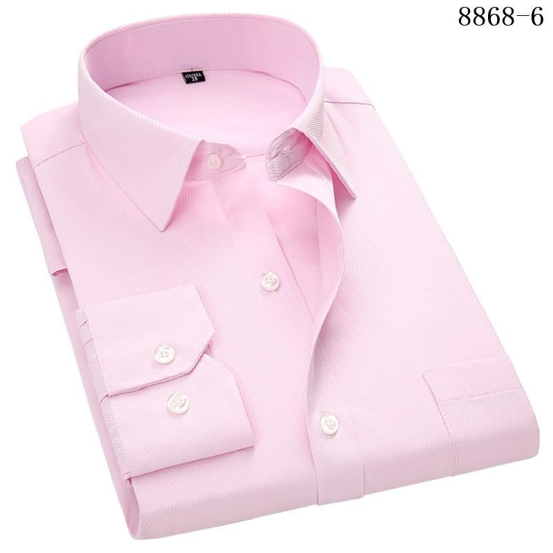 4XL 5XL 6XL 7XL 8XL Large Size Men's Business Casual Long Sleeved Shirt White Blue Black Smart Male Social Dress Shirt Plus 14