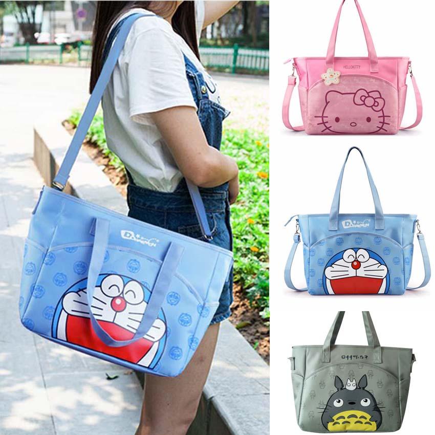 Oxford Cartoon Mummy Bag Women Casual Shopping Diaper Bag Cartoon Stroller Bag Women Should Tote Picnic Bag 3 Colors
