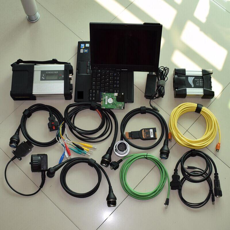 C5 C5 profissional MB Estrela SD Conectar Com a Versão Mais Recente 2019.07 v 1 TB HDD 2in1 para BMW ICOM PRÓXIMO programador com X200t Laptop