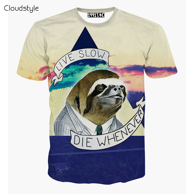 2017 New arrivals brand clothing Fashion 3D Printed T Shirt live ...