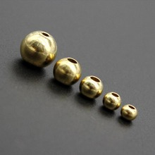 100pcs Original Brass Round Ball Space Beads 3mm 4mm 5mm 6mm Bracelets Loose Charm Bead for DIY Necklace Jewelry Making Supplier cheap Fashion CRYSTAL Round Shape S0759 Ahknormailcui gold color 100pcs lot brass beads Rondelle bead spacer beads round copper beads