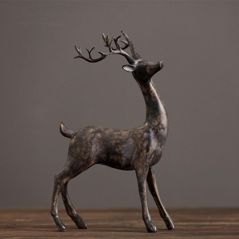 Американские ретро украшения с оленями украшения гостиной ТВ шкаф домашнего интерьера скандинавский Лось украшение декора