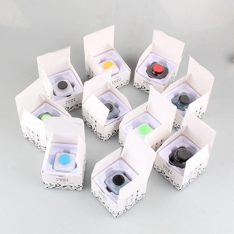 500pcs/lot High Quality Fidget Cube Toys Puzzles & Magic Stress Cube EDC Anti Stress Reliever Desk Finger Toy