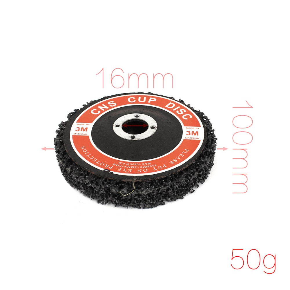 Paint Rust Remover Abrasive Sanding Cleaning Discs Black 100mmx16mmx13mm