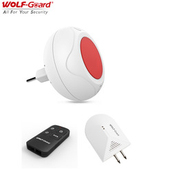 Wolf Guard DIY prosty bezprzewodowy domowy system alarmowy kryty dźwięk Flash syrena + detektor wycieku wody ue wtyczka 433MHZ zestaw D Czujnik i detektor Bezpieczeństwo i ochrona -