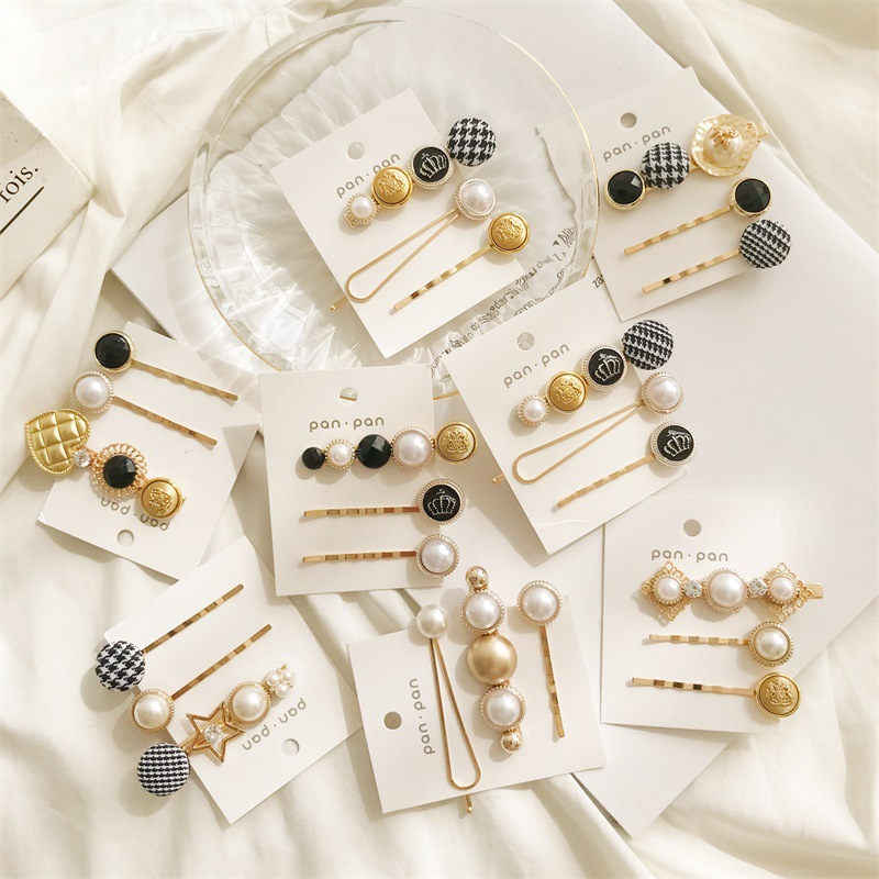 3Pcs/Set Pearl Hair Clips Swallow Gird Women Hairpins Barrette Bobby Pins Hairgrip 2019 Newest Hair Clip For Girls Accessories