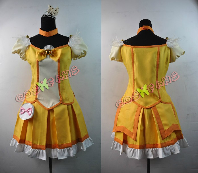 Free shipping Custom Cheap Yellow Cure Peace Cosplay Costume from Smile PreCure