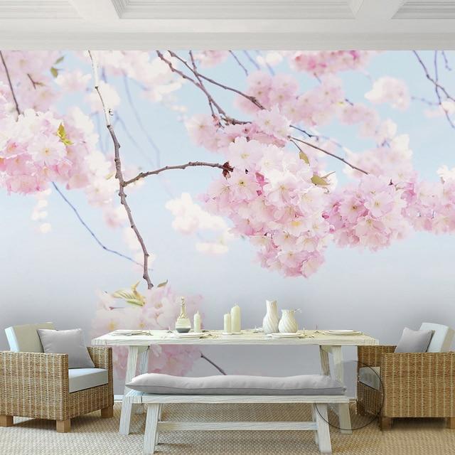 Custom Foto Behang Kersenbloesem Mooie Bloemen Muurschildering ...
