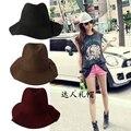 Moda de verano sombreros de ala de lana sunbonnet vendimia de moda ondas naturales suave grande ala tapa sombrero de la mujer