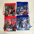 piderman Star Wars TMNT Cartoon Kids Drawstring Printed Backpack Shopping School Traveling Party Bags
