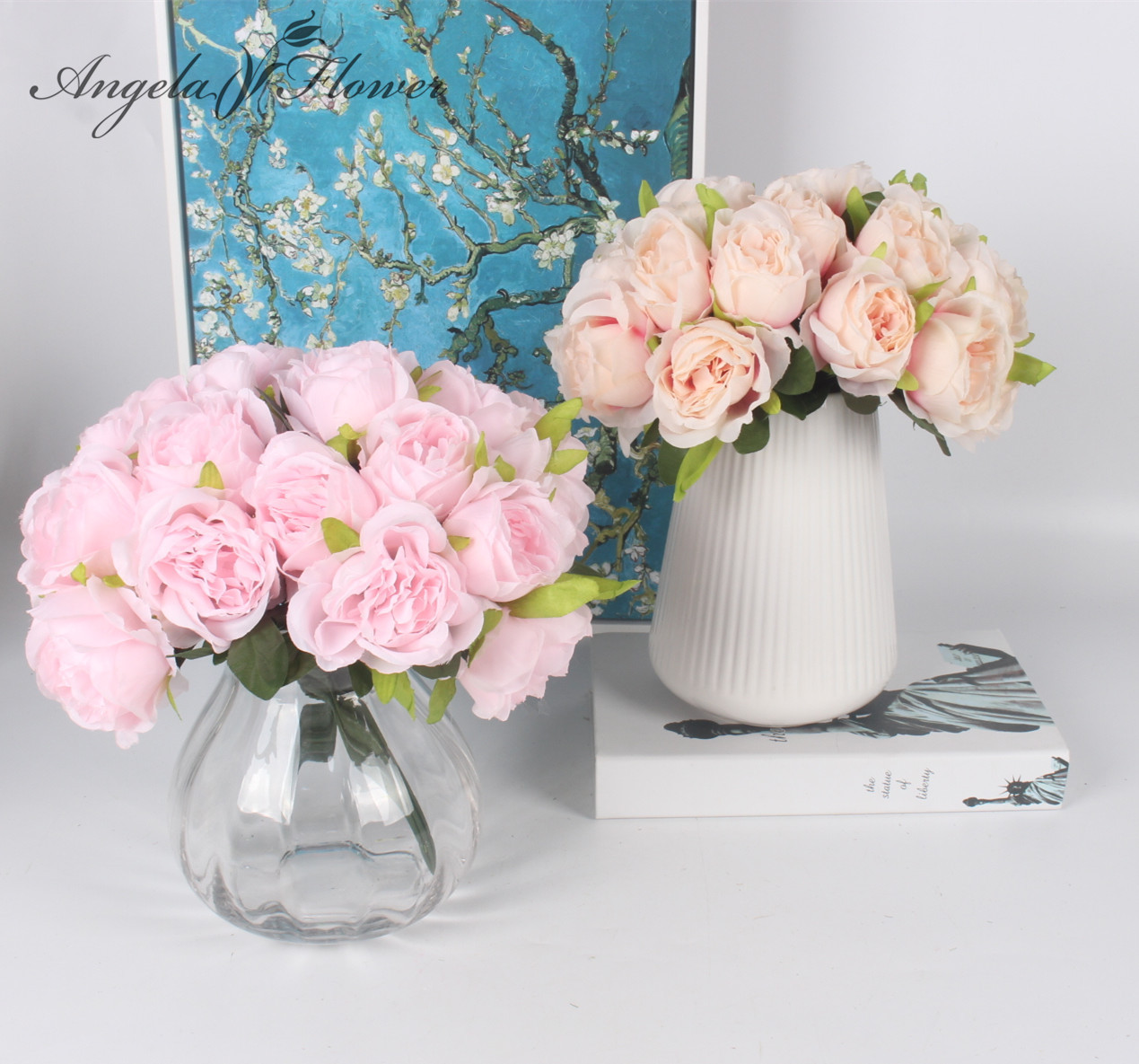 10 Heads Artificial Western Rose Bouquet Beautiful Romantic Silk