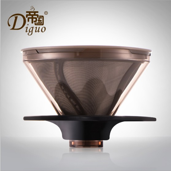 Diguo Stainless Steel Coffee Filter Cup and Cup Double Filter Paper Filter Hand Free Smart Filter Cup Tea Cup недорго, оригинальная цена