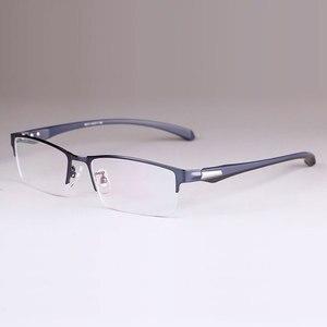 Image 5 - 男性チタン合金眼鏡フレーム男性眼鏡柔軟な寺院脚 ip 電気めっき合金材料、フルリムとハーフリム