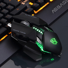 2017 NM-001 Wired RGB LED Backlit Breath 4000DPI Adjust Usb Ergonomic Optical Gaming Mouse Gamer Metal Panel PC Laptop Computer