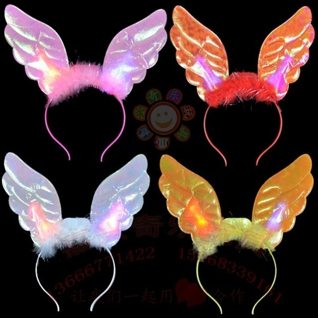 Halloween Christmas hair accessory luminous flash hair bands performance props supplies