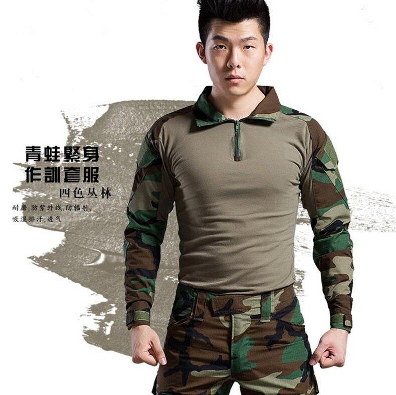 Haute Qualité Armée Militaire Uniforme Camouflage Tactique Costume de Combat Airsoft Jeu de Guerre Vêtements Shirt + Pantalon CM2