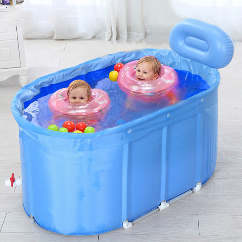 Eco-friendly insulation cotton baby swimming pool stainless steel twins baby swimming pool folding children's playing game pool dual slide portable baby swimming pool pvc inflatable pool babies child eco friendly piscina transparent infant swimming pools