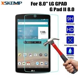 Przezroczyste bez odcisków palców ochraniacz ekranu dla LG GPAD 2 8.0 V498 LCD Anti-Explosion Tablet 9 H pokrywa tarcza film darmowa wysyłka