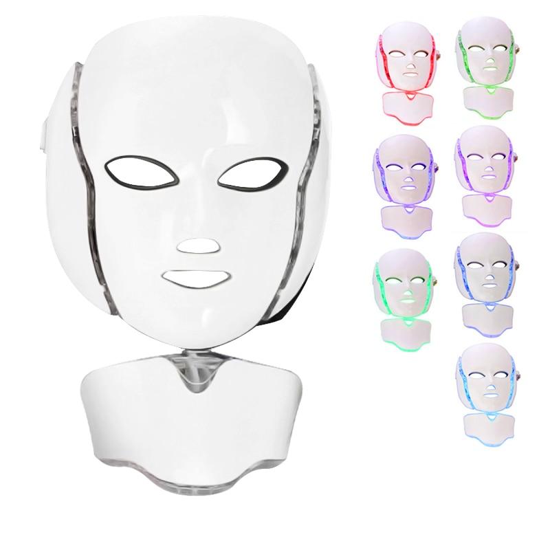 7 Colors Led Mask Spa facial masks Skin Rejuvenation Whitening Facial Beauty Daily Skin Care Mask