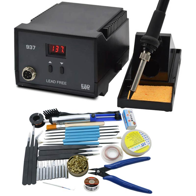 Strong High Quality 600W Soldering Station Electric Solder Iron  936  LED Digital Solder Iron 937 Solder Station