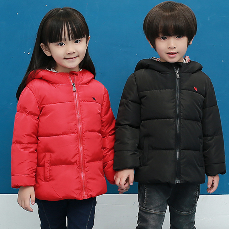 Boys and girls warm feather coat 2016 fall and winter clothes new men and baby children padded cotton jacket coat