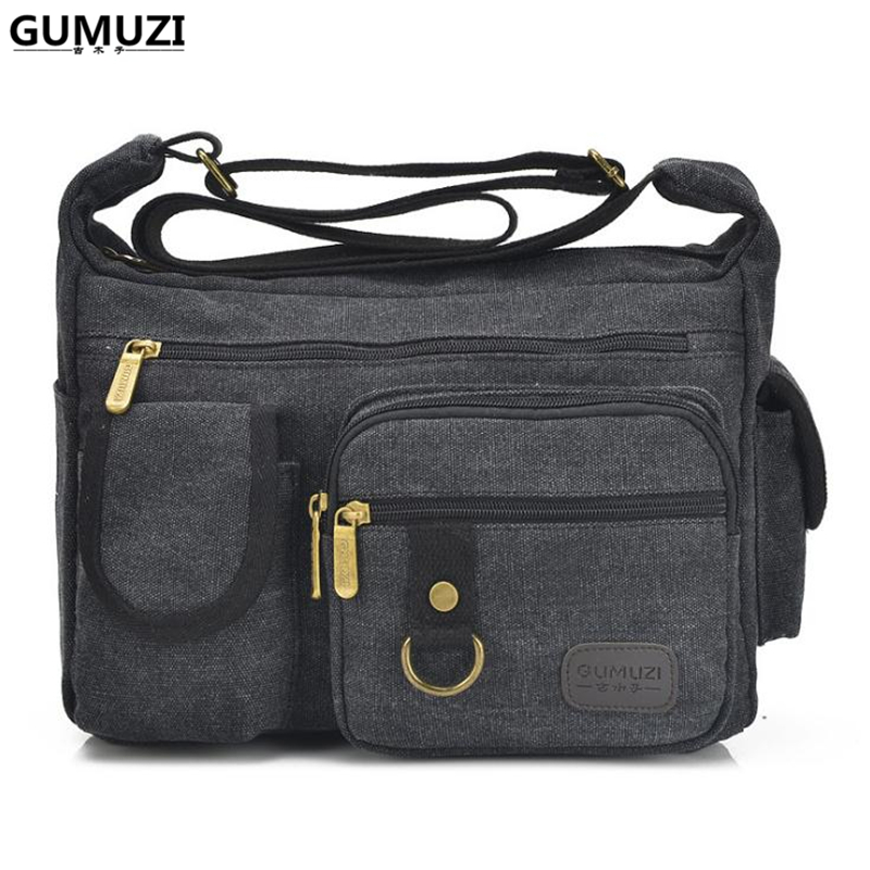 05e591555b2c GUMUZI Fashion Men Shoulder Bag High Quality Canvas Male Crossbody Bag  Large Capacity Casual Men Women Messenger Bag Totes