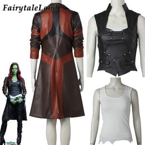 Image 1 - Avengers Gamora kostüm Cosplay cadılar bayramı süper kahraman Gamora ceket siyah yelek Custom Made Gamora ceket