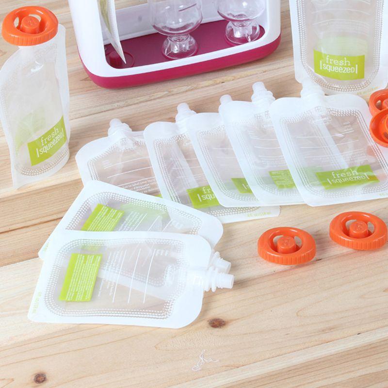 10 Pcs Children Puree Squeezer Home Kitchen Dispenser Accessories Baby Food Fresh Storage Bag Sub-package