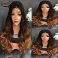T1b/4/27 Three Tone Ombre Full Lace Humna Hair Wigs Glueless 180% Lace Front Wigs With Baby Hair Bleached Knots Lace Wigs