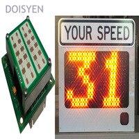yellow led warning lights traffic speed signal k band radar speed detector