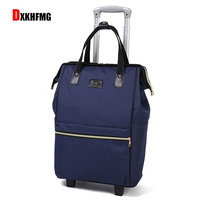 Large Capacity Oxford Cloth Waterproof Women Trolley Case Boarding Suitcase Traveling Luggage Bags with Wheels Luggage Set VS