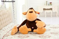 large 48cm lovely monkey plush toy cartoon jungle monkey soft doll throw pillow birthday gift s0548