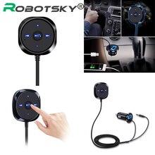 Bluetooth 4.0 sem fio música receptor 3.5mm adaptador handsfree carro aux alto falante bluetooth carro kit 2.1a usb carregador de carro