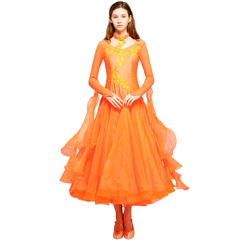Ballroom Stage & Dance Wear Mei Yu S9042 Modern Dance Costume Women Ladies Adult Dancewear Waltzing Tango Dancing Dress Ballroom Costume Evening Party Dress To Have A Unique National Style