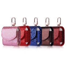Flash Sequins Earphone Case For AirPods Case Hook Leather Bag for Apple Airpods Protective Cover Bluetooth Headphones Cases