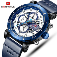 NAVIFORCE New Top Mens Sports Watches Luxury Brand Leather Quartz Automatic Date Clock Male Army Military Waterproof Wrist Watch