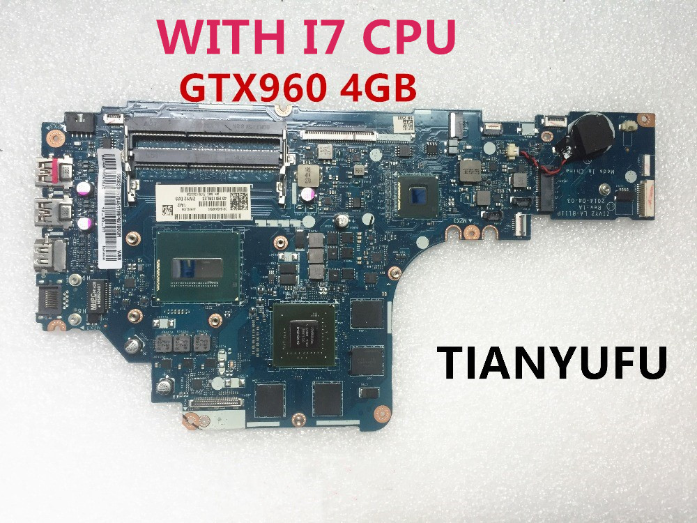 For Lenovo Y50 70 Laptop Motherboard With i7 4720HQ 2 60GHz CPU GTX 960M 4GB GPU