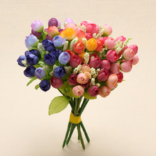 Buy bulk artificial flowers and get free shipping on aliexpress 15 heads mini rose colorful silk flowers bulk artificial flower home decor for wedding birthday decor mightylinksfo