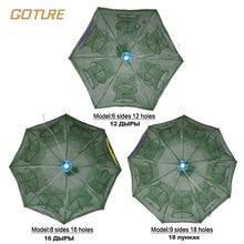 Goture 18 Holes Automatic Fishing Net Shrimp Cage Nylon Foldable Crab Fish Trap Cast Net Cast Folding Fishing Network