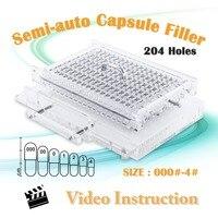 CN204S Semi Automatic Capsule Filling Machine Capsule Filler All Size 000 00 0 1 2 3