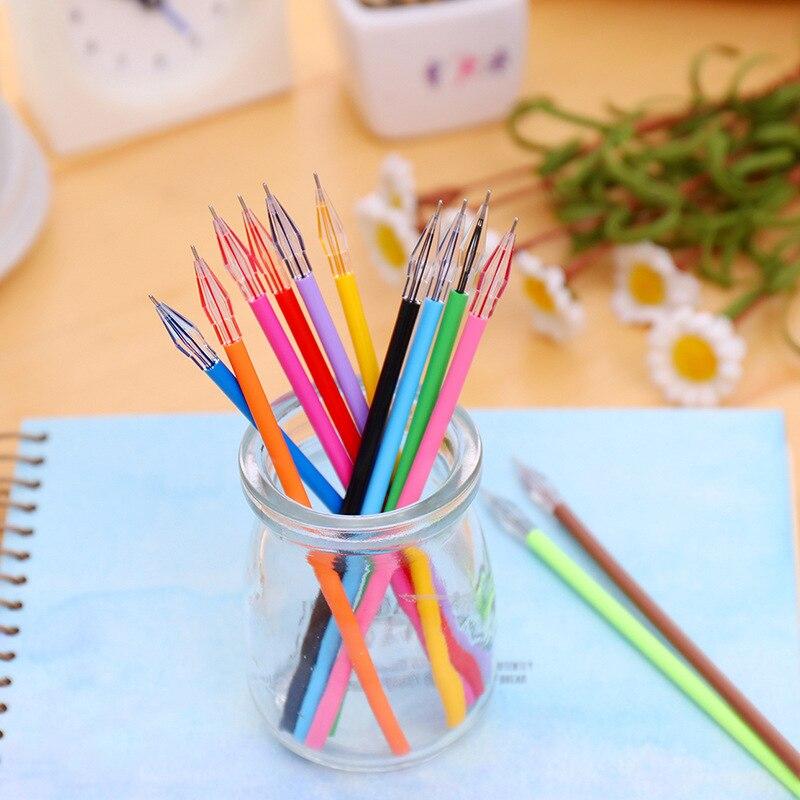 12Pcs/Lot Color Creative Flash Cartridge Gel Pen Refill Stationery Store Escritorio School Material Highlighter Item Shop Pastel
