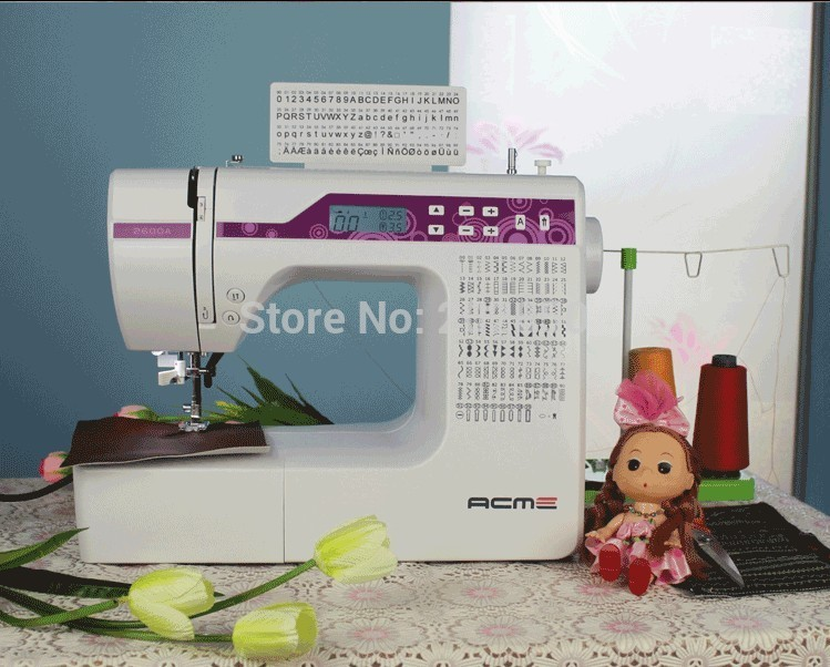 2018 Update Household Multi Function Sewing Machine With Different 200 Stitches Can Embroidery Letters LCD Screen