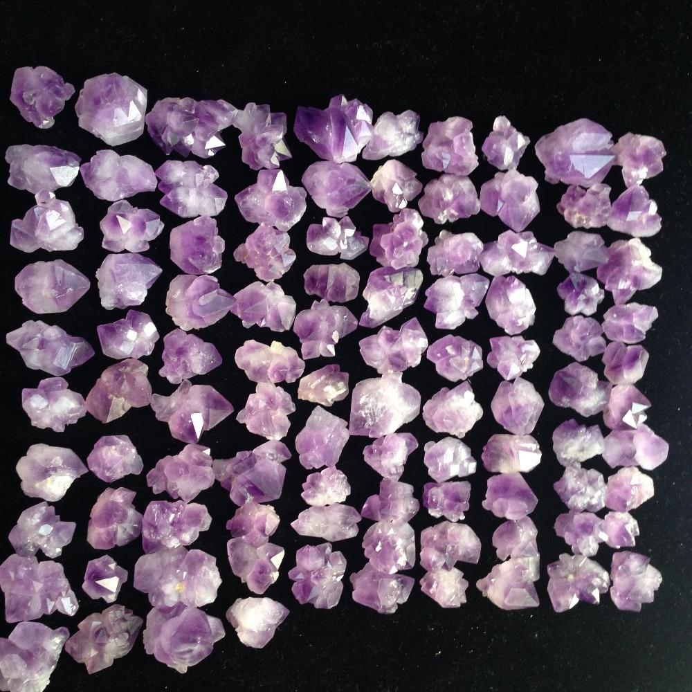 100 sztuk naturalny ametyst kamienie uzdrowienie kwarcowy kryształ minerały feng shui produktu Reiki punkty okaz 1 kg wiele hurtownia w Kamienie od Dom i ogród na  Grupa 1